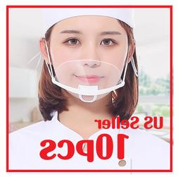 Transparent Clear Plastic Anti-fog Mouth Shield Great Restau