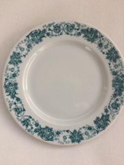 Vintage Carr China Green Intricate Leaf Band Restaurant Chin