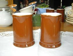 Vintage HALL Restaurant Brown Individual Creamer Syrup ~ Set
