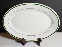 Vintage Wellsville Vitrified China 12 1/2 Oval Platter - Res