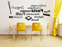 Vinyl Sticker Pasta Italian Food Restaurant Kitchen Decal Wa