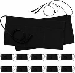 3 Pocket Waitress Apron Waist Aprons for Home and Kitchen Ut