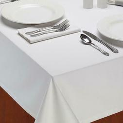 White Restaurant Quality Tablecloth Design Imports Dii Heavy