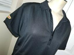 Womens DENNY'S Black Employee Polyester Polo Shirt MEDIUM un