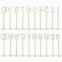 7Penn Wooden Table Number Stands 1-20 – Wedding Receptions